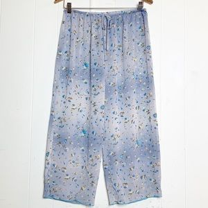 Natori Private Luxuries Blue Ombre Floral Lounging